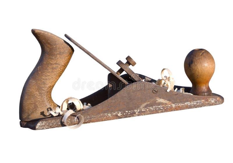 Oud instrument van de schrijnwerker royalty-vrije stock afbeeldingen