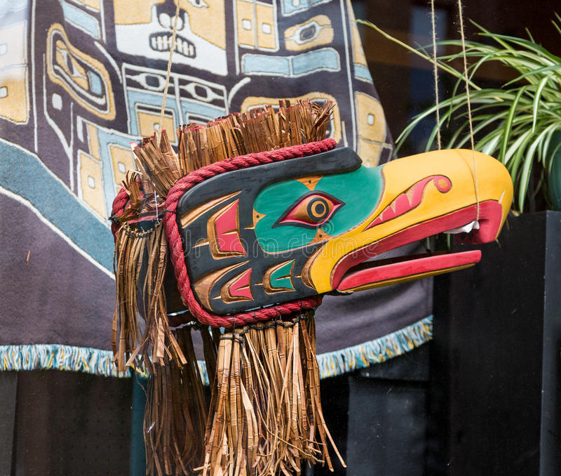 Oud Inuit-Masker royalty-vrije stock afbeelding