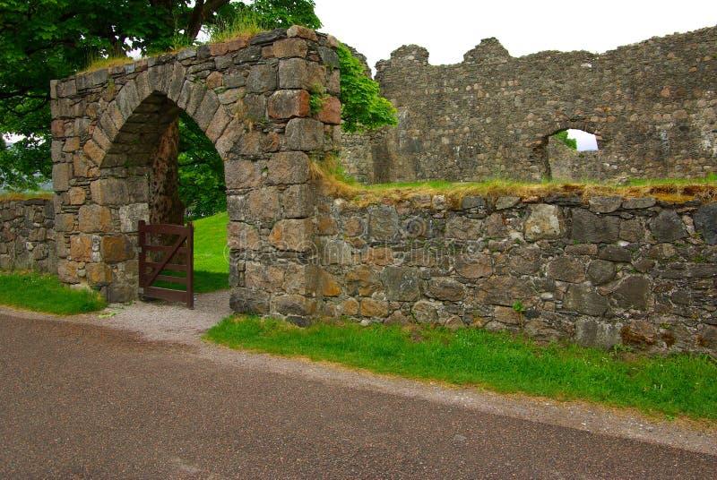 Oud Inverlochy-Kasteel, het Verenigd Koninkrijk stock afbeeldingen