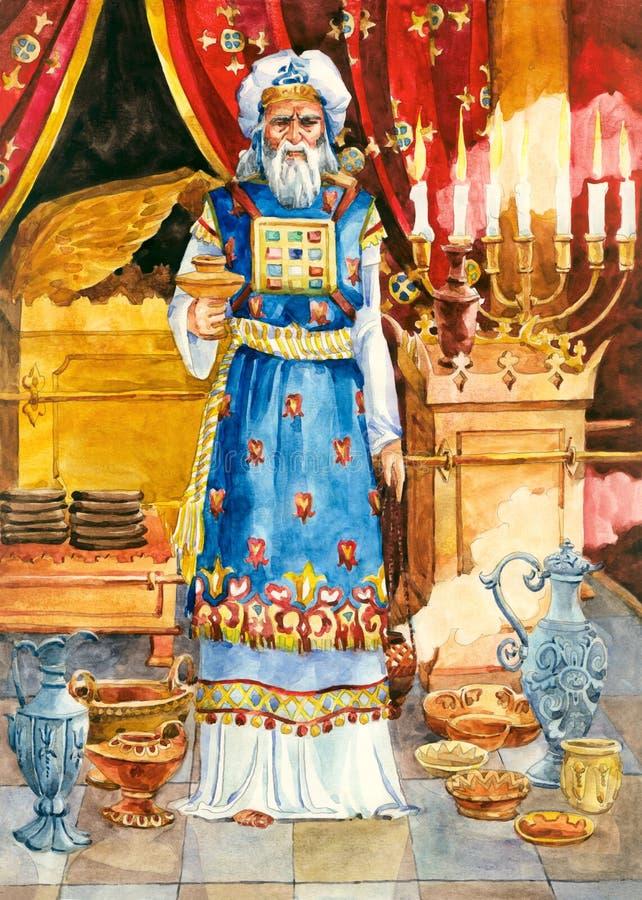 Oud Israël. Hoge priester stock illustratie