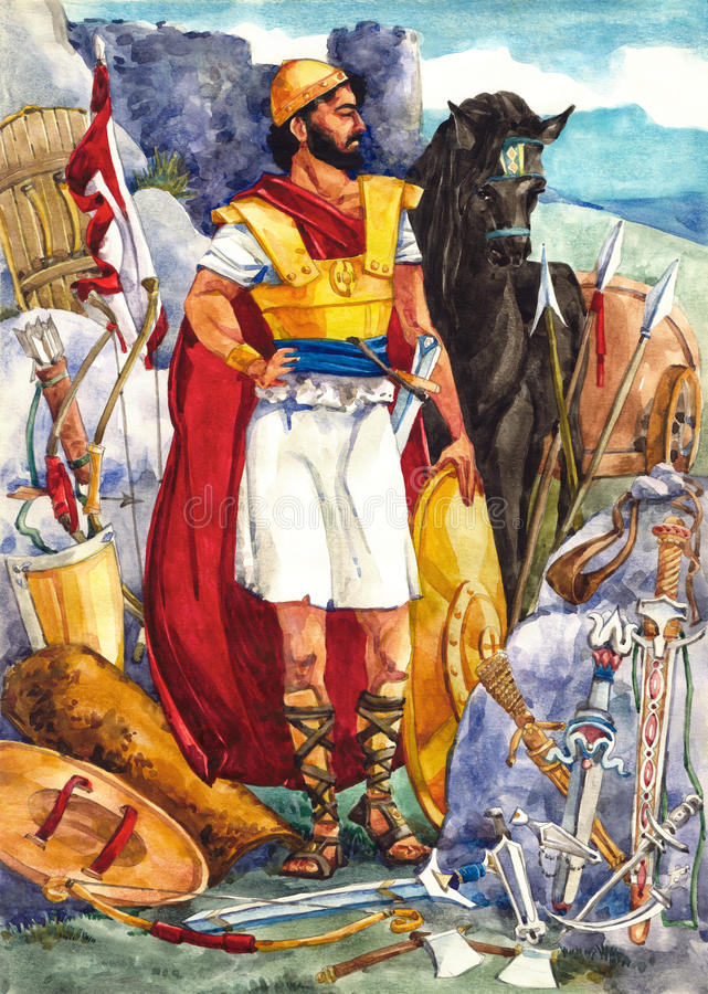 Oud Israël. Strijder royalty-vrije illustratie