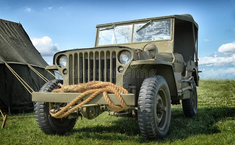 Oud Jeep Willys stock foto's