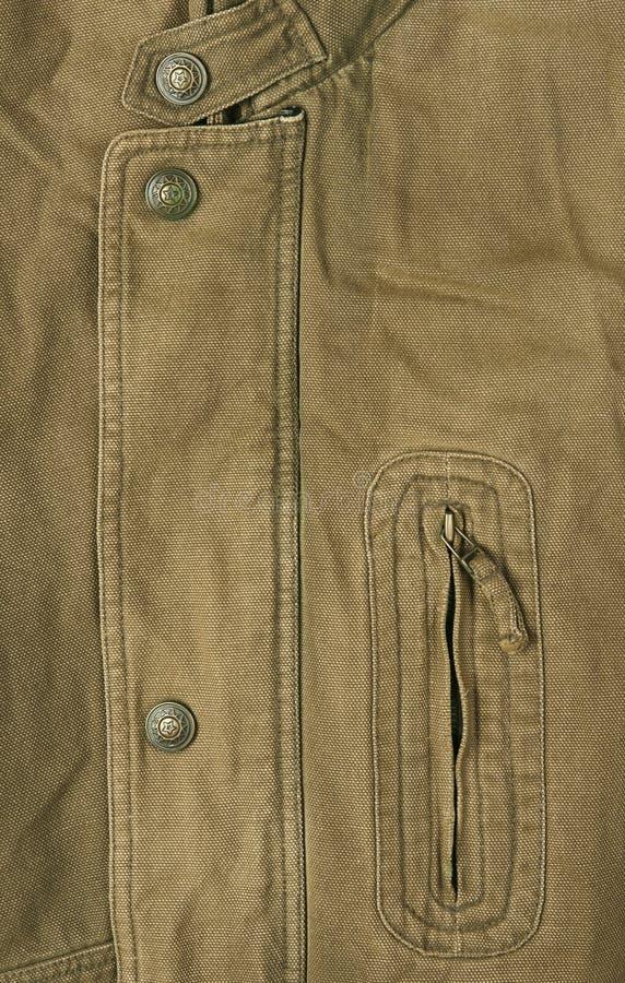 oud kaki jasje stock foto's