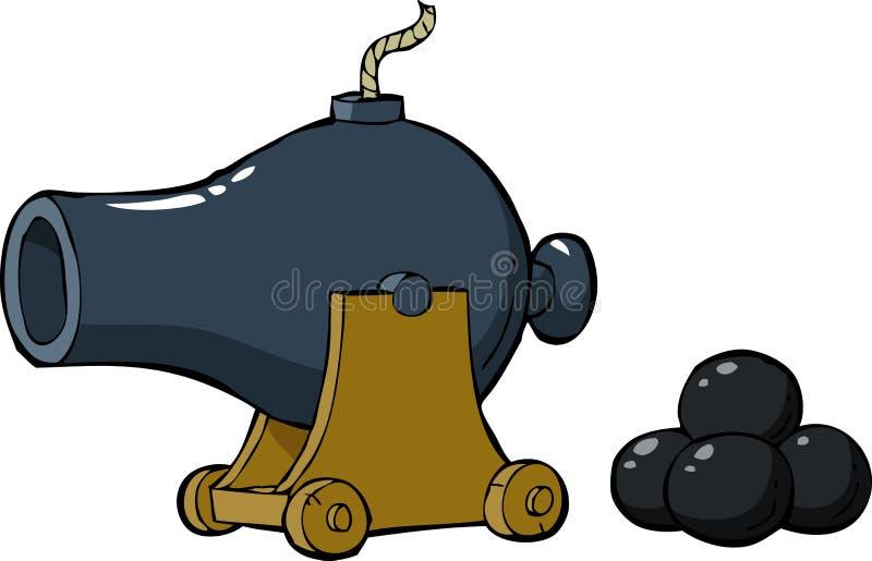 Oud kanon royalty-vrije illustratie
