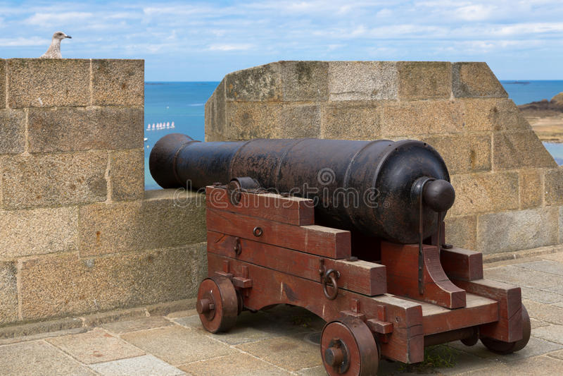 Oud kanon royalty-vrije stock afbeelding