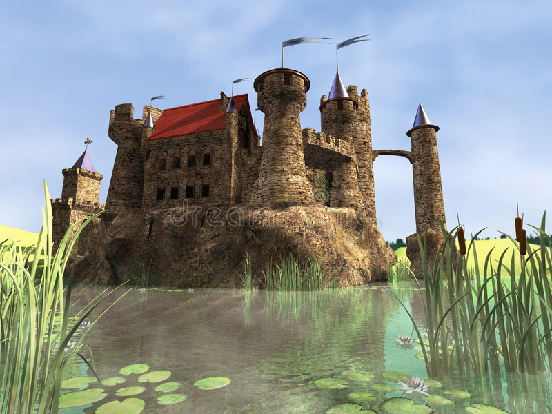 Oud kasteel vector illustratie
