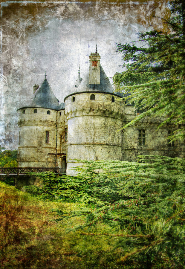 Oud kasteel stock illustratie