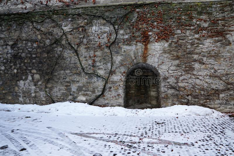 Oud kasteel in bulle in gruyère in Zuid-Zwitserland royalty-vrije stock foto