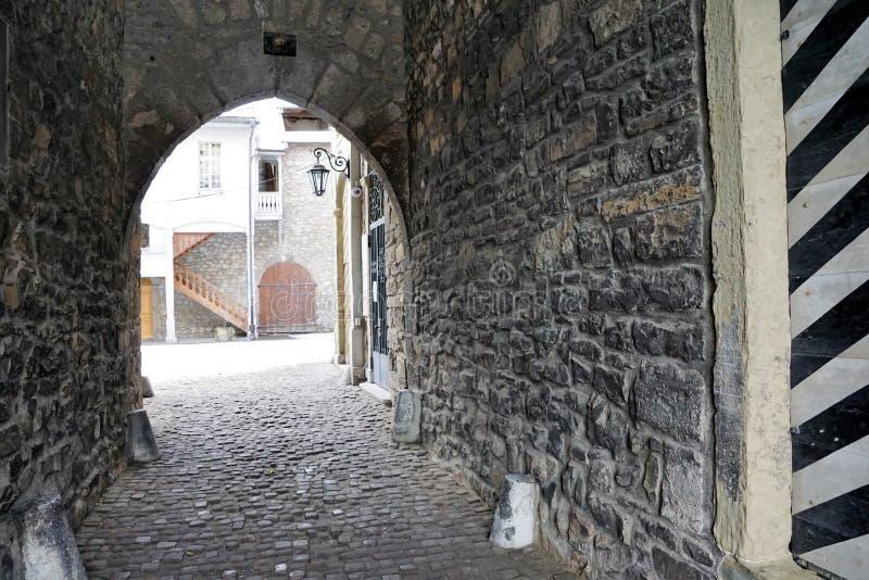 Oud kasteel in bulle in gruyère in Zuid-Zwitserland royalty-vrije stock fotografie