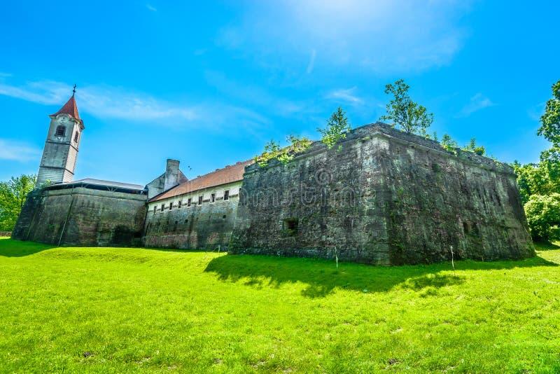 Oud kasteel in Cakovec, Kroatië stock foto