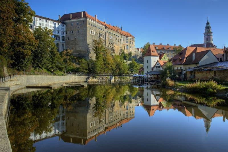 Oud kasteel in Cesky Krumlov royalty-vrije stock fotografie