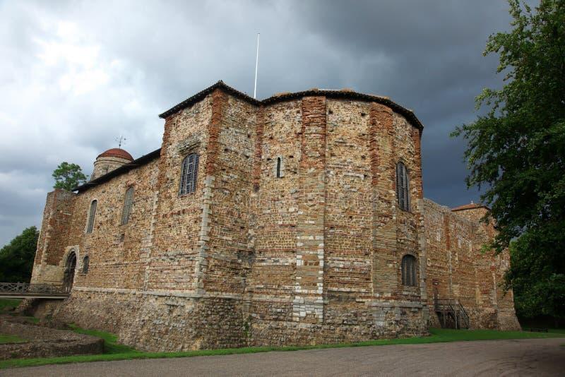 Oud kasteel in Colchester royalty-vrije stock afbeeldingen