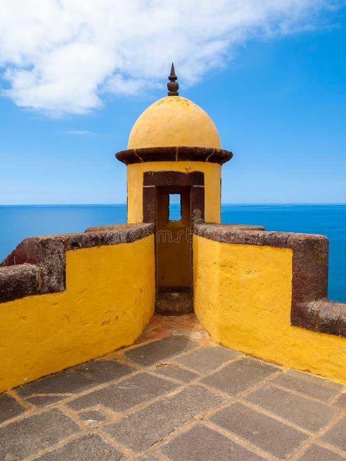 oud kasteel Fortaleza DE Sao Tiago royalty-vrije stock foto's