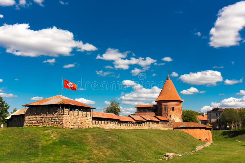 Oud kasteel in Kaunas royalty-vrije stock foto's