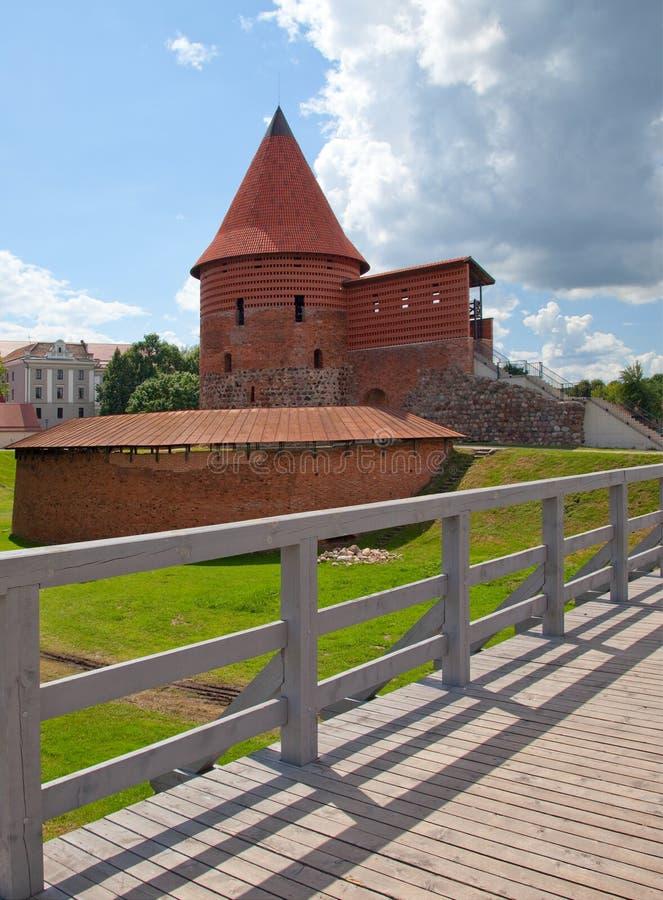 Oud kasteel in Kaunas, Litouwen. stock foto's