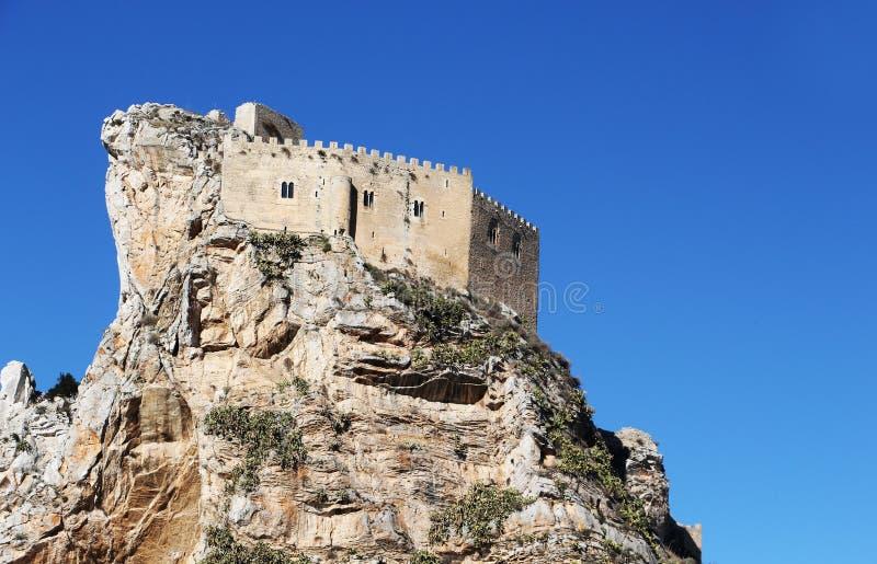 Oud kasteel, mussomeli, ruimte voor Ext. stock foto's