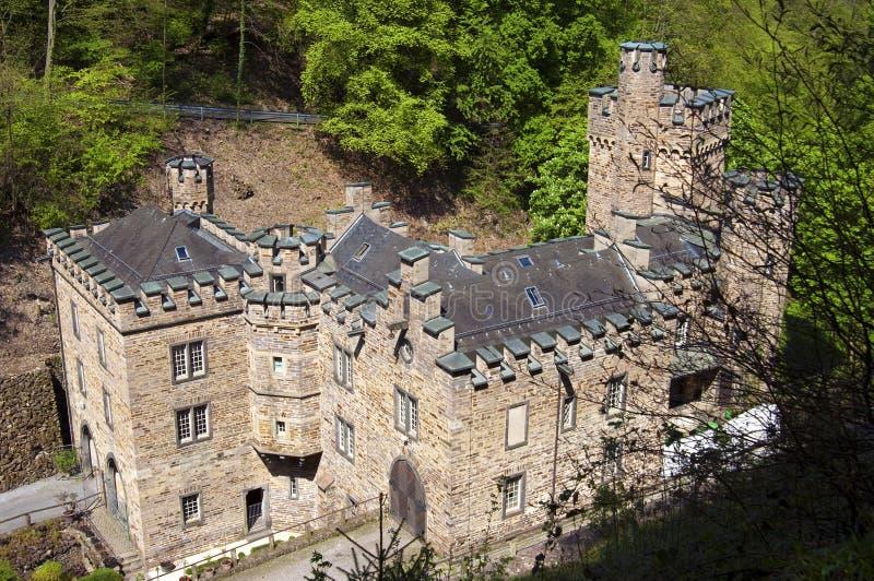Oud kasteel Stolzenfels in Koblenz stock foto