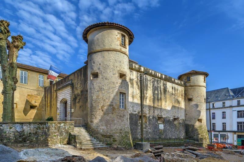 Oud Kasteel van Bayonne, Frankrijk stock foto
