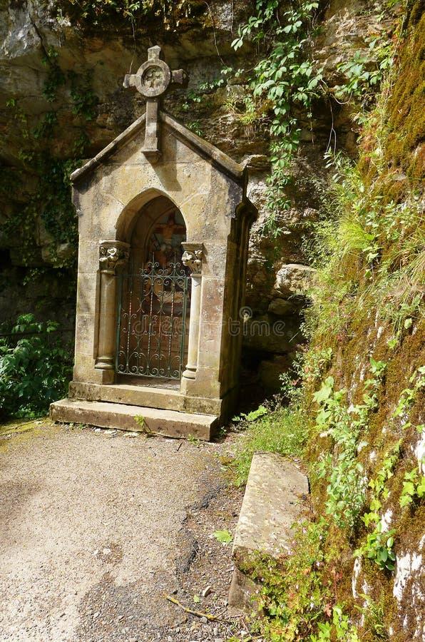 Oud katholiek heiligdom, Rocamadour, Frankrijk royalty-vrije stock afbeeldingen