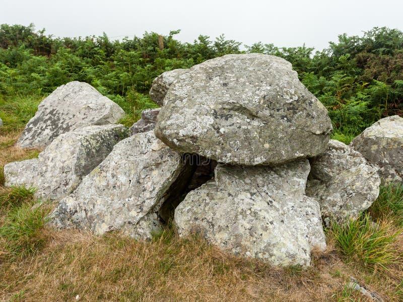 Oud Keltisch steengraf in Normandië Frankrijk royalty-vrije stock foto