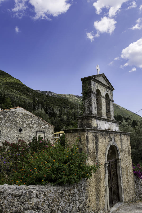 Oud klooster in Lefkada stock foto
