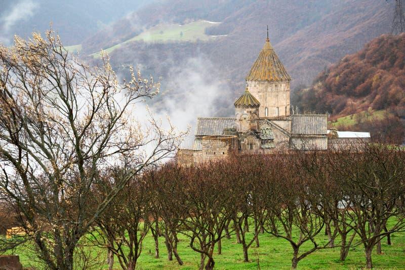 Oud klooster Tatev in Armenië royalty-vrije stock afbeelding