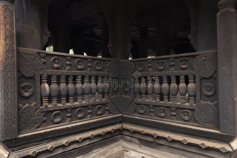 Oud klooster van Bagaya, Myanmar stock afbeelding