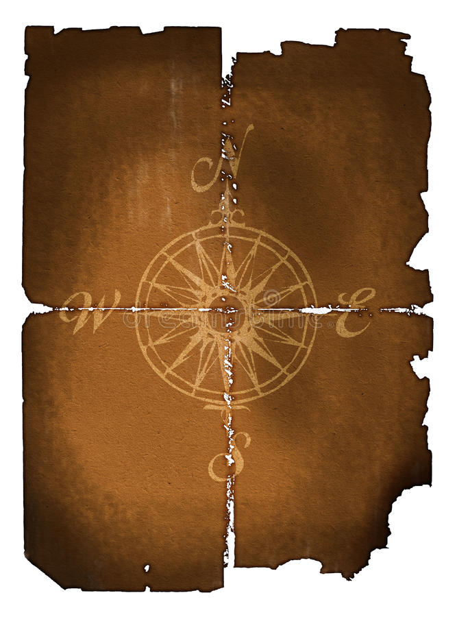 Oud kompas royalty-vrije illustratie