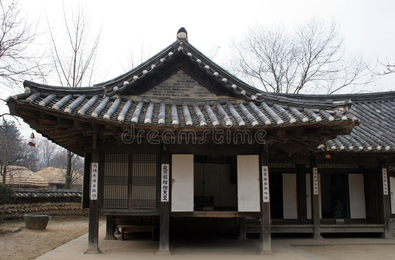 Oud Koreaans huis stock foto