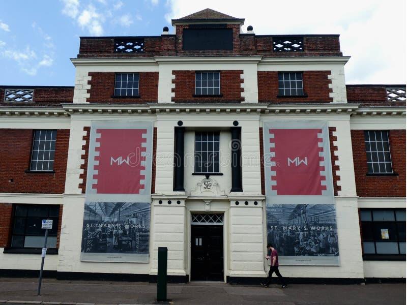 Oud Koster, Zoon & Everard Shoe Factory, Norwich, Norfolk, het UK royalty-vrije stock foto