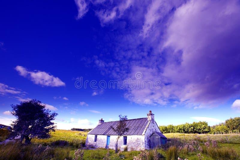 Oud landbouwbedrijf op Eiland van Skye stock afbeeldingen