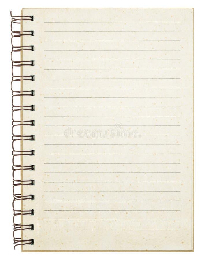 Oud leeg gestreept notitieboekje stock fotografie