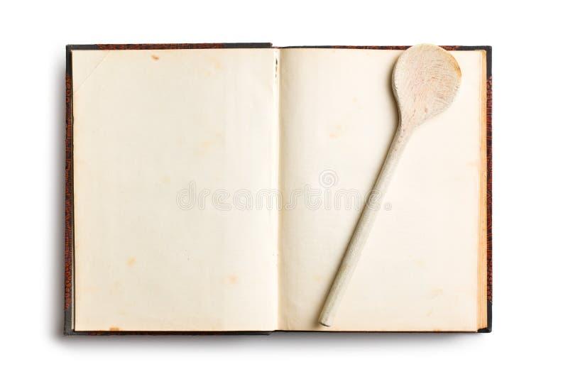 Oud Leeg Receptenboek Stock Afbeeldingen