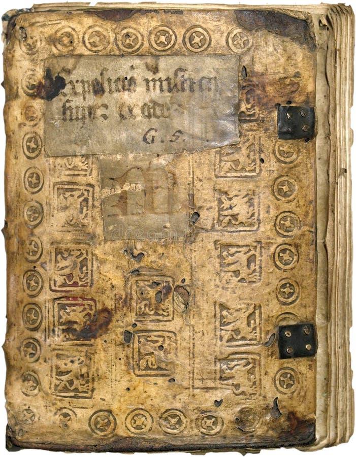 Oud leerboek stock foto's