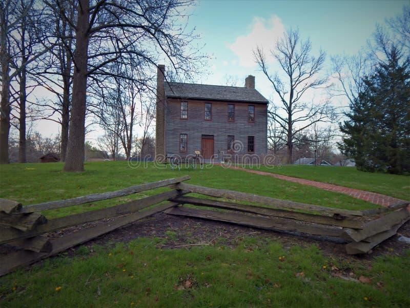Oud Logan County-gerechtsgebouw Postville Illinois royalty-vrije stock afbeeldingen