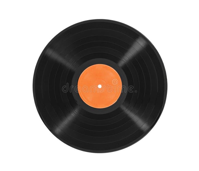 Oud LP-Geïsoleerd Verslagalbum stock foto