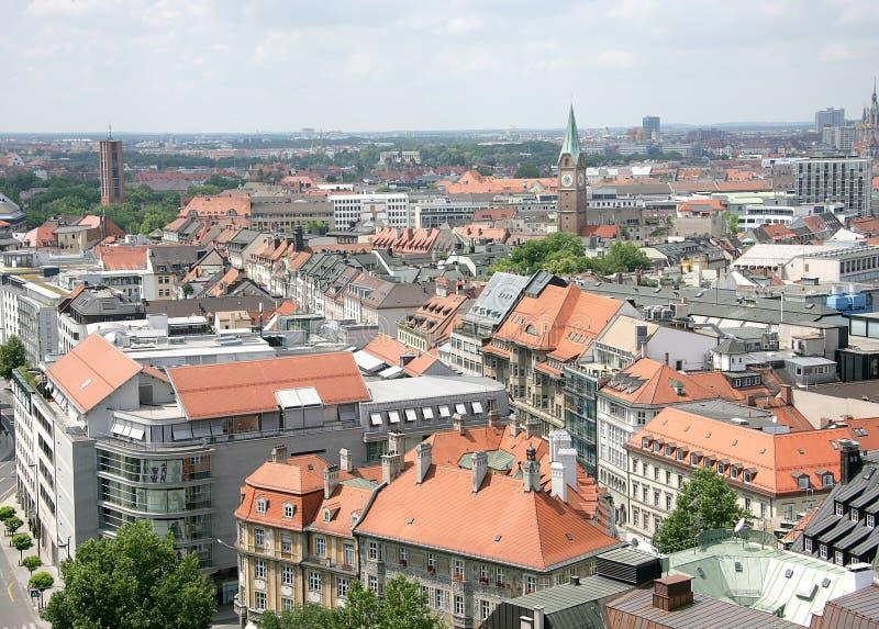 Oud München. Mening van boven 3 stock foto's