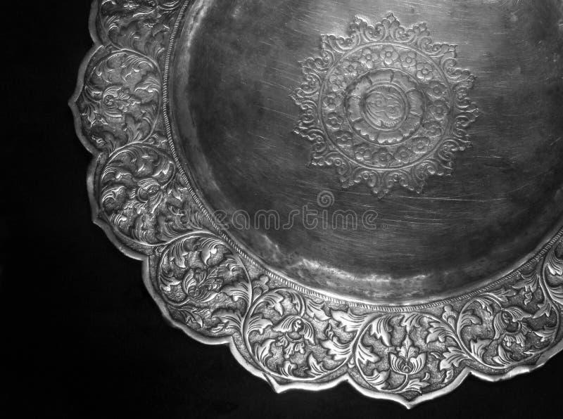 Oud Maleis verzilverd tafelgerei royalty-vrije stock afbeelding