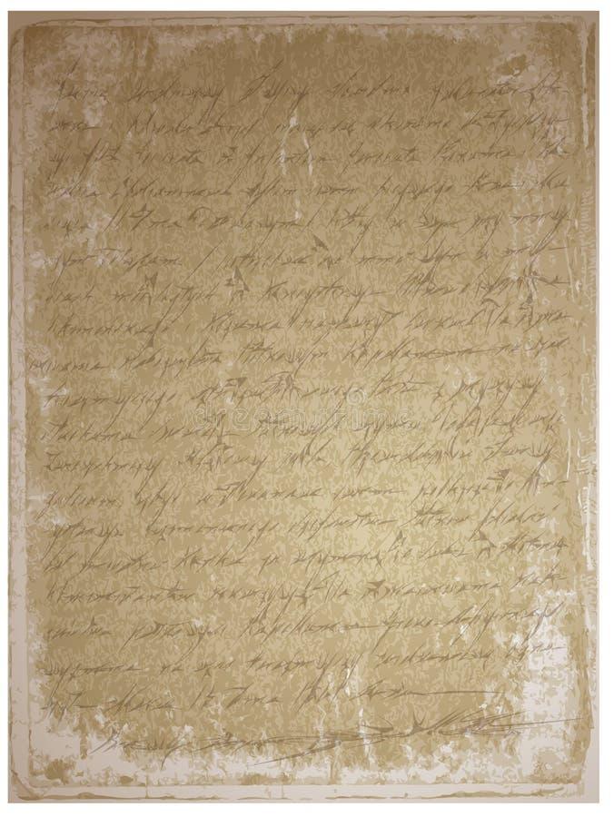 Oud manuscript vector illustratie
