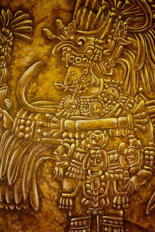 Oud Mayan Art. royalty-vrije stock afbeeldingen