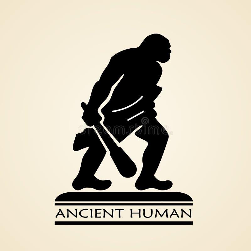Oud menselijk pictogram royalty-vrije illustratie