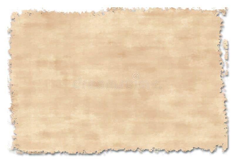 Oud met de hand gemaakt document vector illustratie