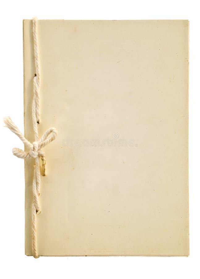 Oud met de hand gemaakt notitieboekje stock afbeeldingen