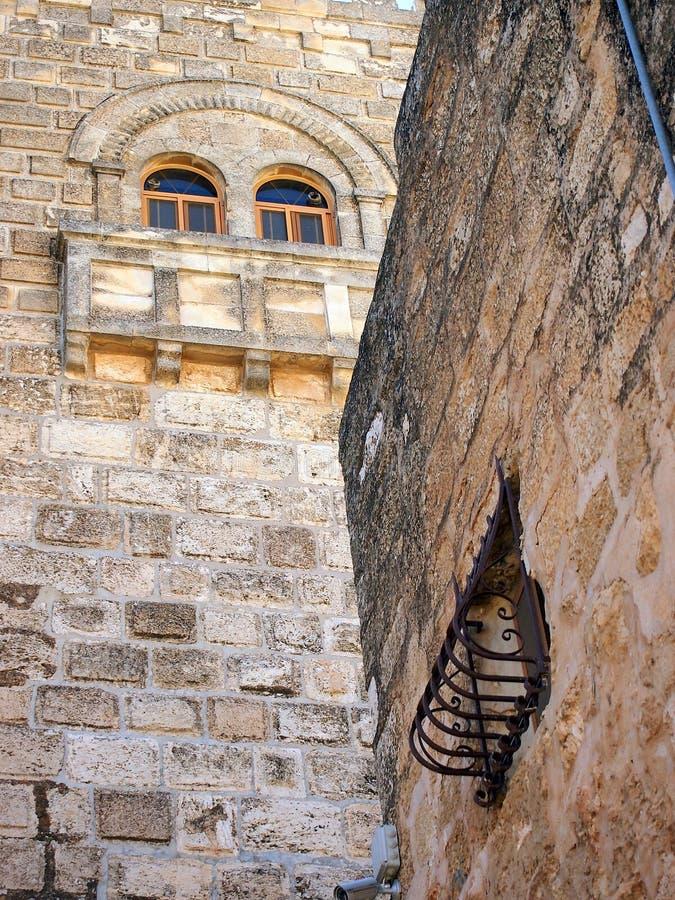Oud Metselwerk, Kerk van de Geboorte van Christus, Bethlehem stock fotografie