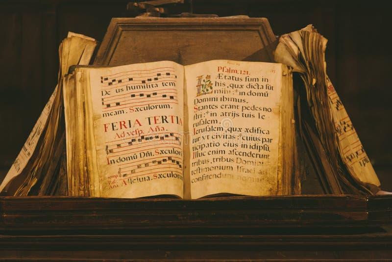 Oud middeleeuws boek royalty-vrije stock afbeelding
