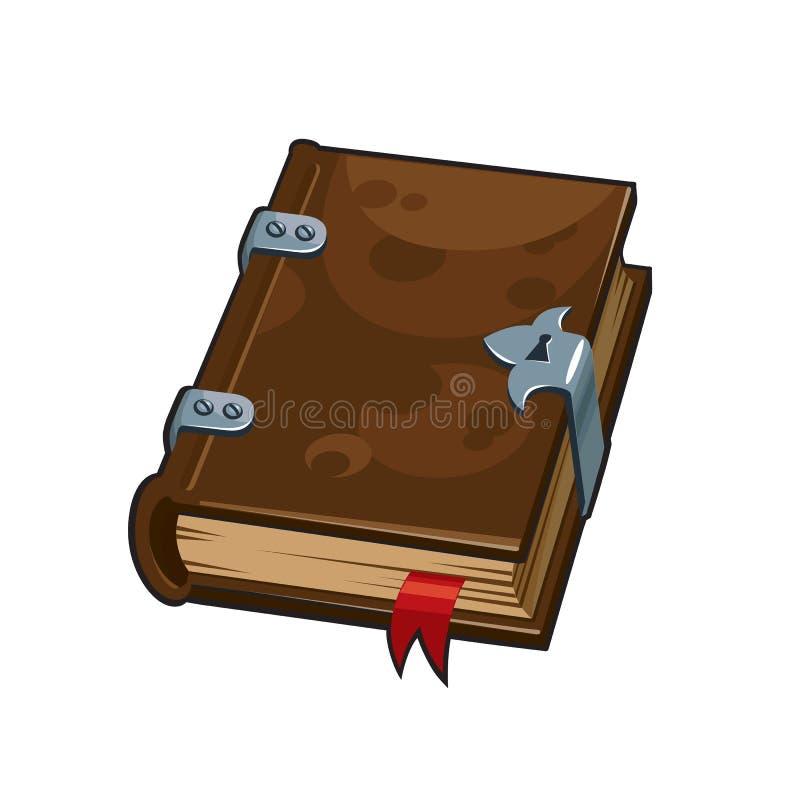 Oud middeleeuws boekdeel, vectorillustratie vector illustratie