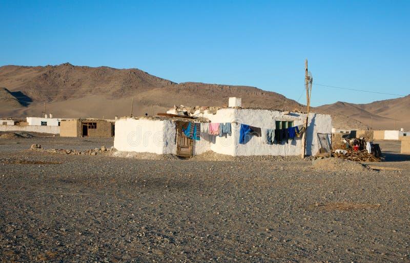 Oud Mongools huis stock afbeeldingen