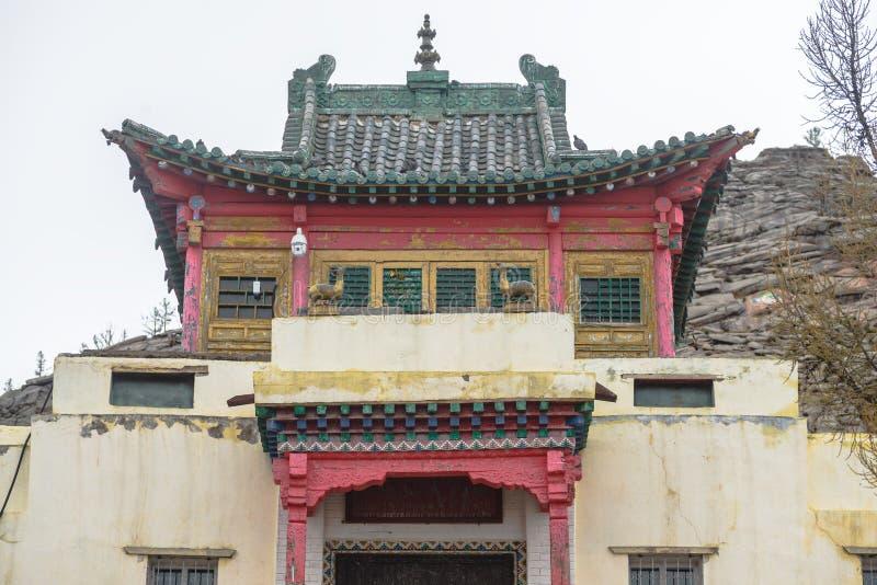 Oud Mongools klooster stock afbeelding