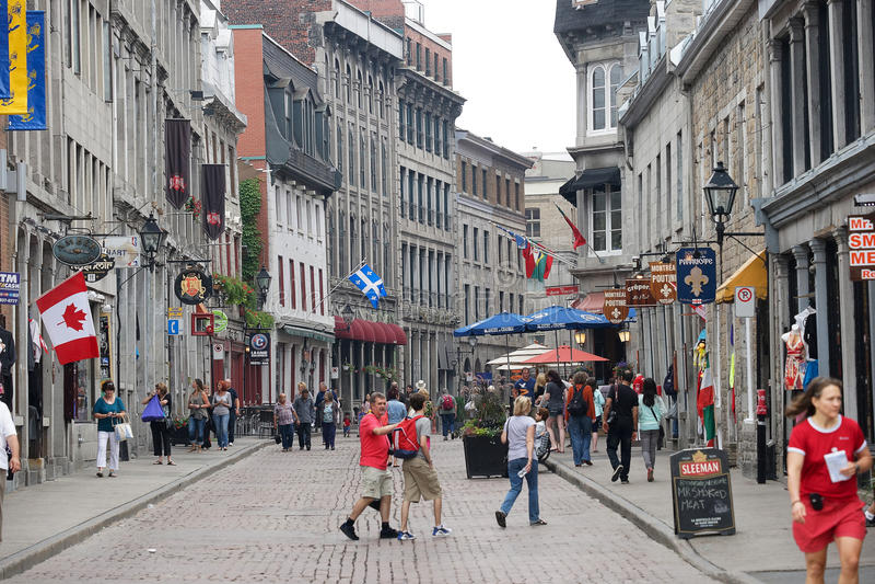 Oud Montreal royalty-vrije stock foto's