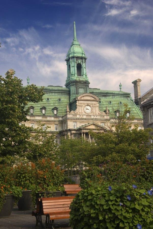 Oud Montreal in de zomer stock afbeeldingen